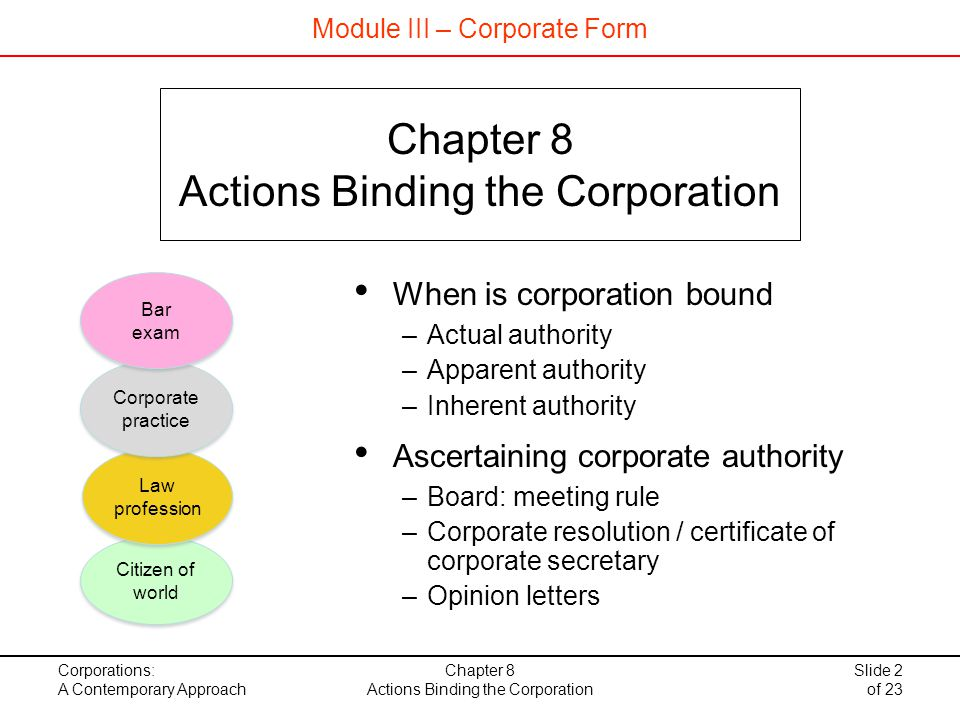 Actions Binding the Corporation - ppt download - corporate resolution form