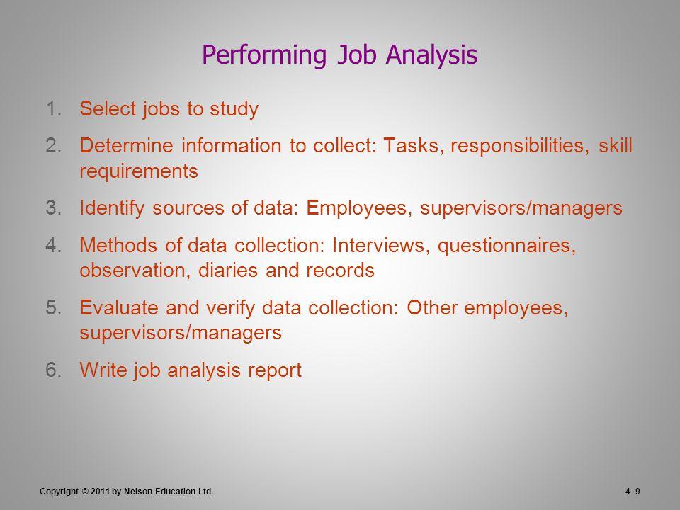 Job Analysis, Employee Involvement, and Flexible Work Schedules - job analysis report