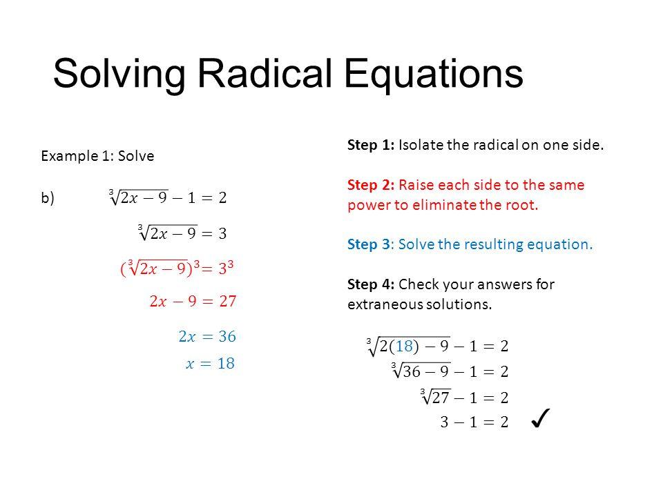 7 3 solving radical equations