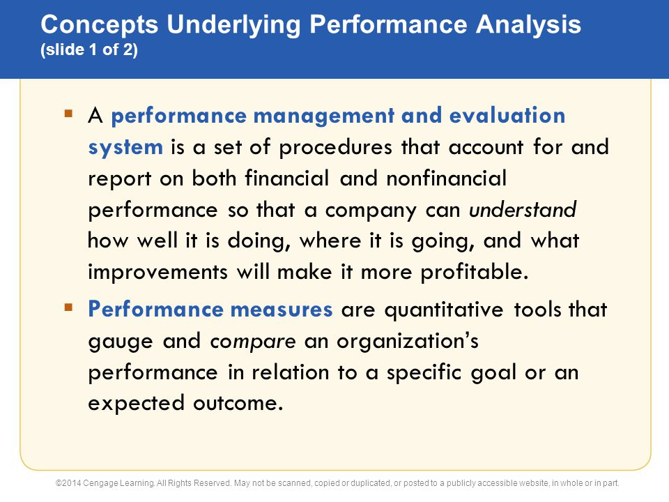 23 Flexible Budgets and Performance Analysis Principles of - performance analysis report