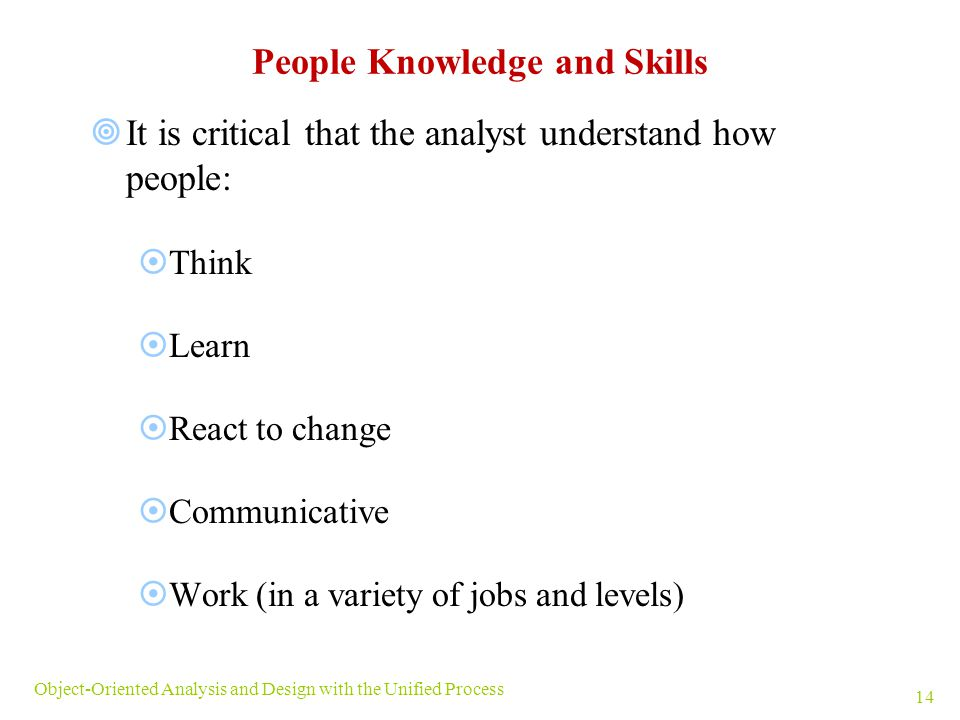 System Analyst Skills And Knowledge
