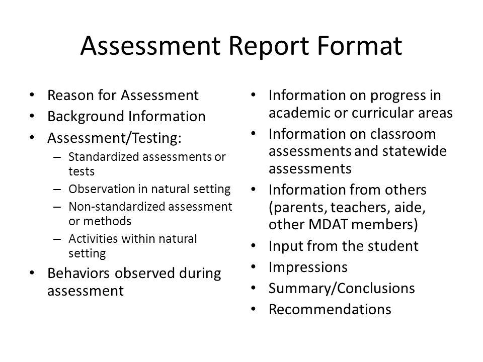 Assessment report format 5863747 - 1cashinginfo - assessment report format