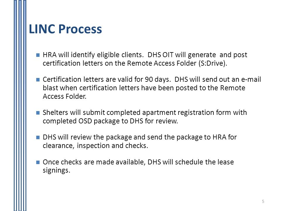 Living in Communities (LINC) Rental Assistance Program - ppt video - rental assistance form
