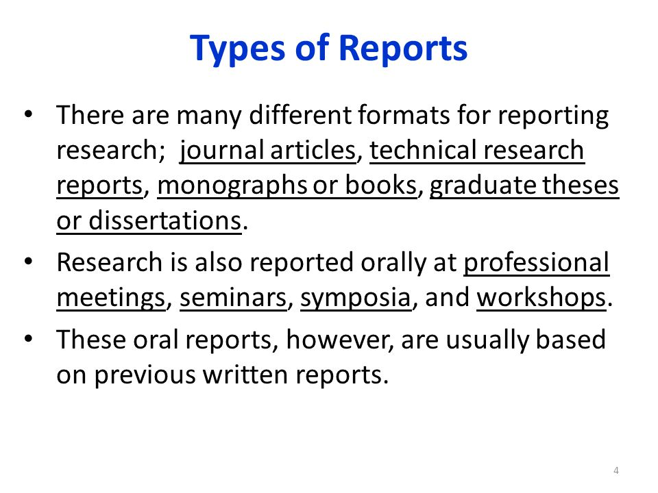 Reporting the Research - ppt download