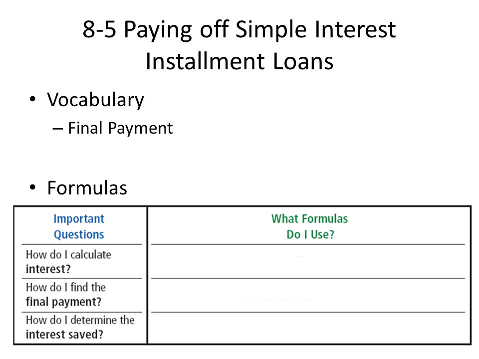 formula for simple interest loan payment - Roho4senses