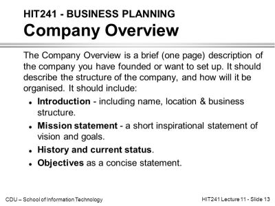 HIT241 - BUSINESS PLANNING Introduction - ppt video online download