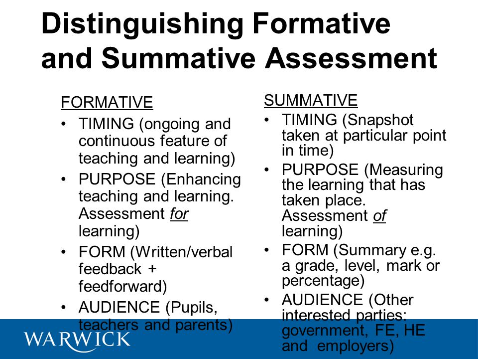 Literature review on formative and summative assessment
