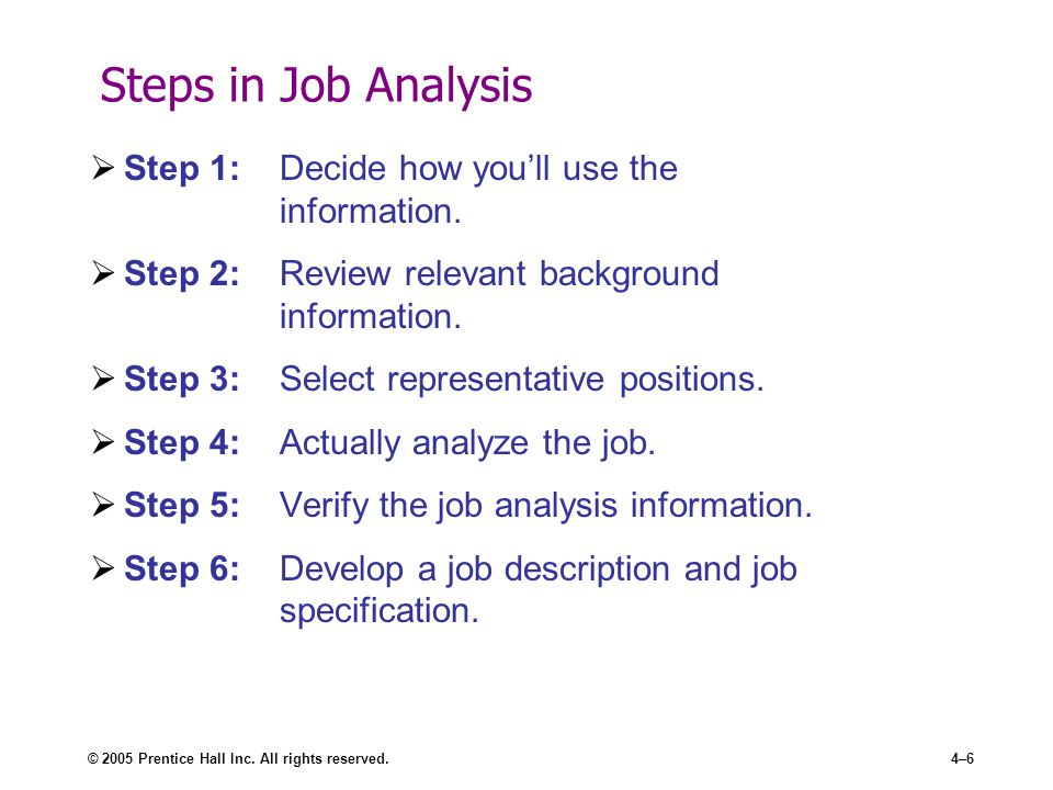 Job Analysis - ppt video online download - job analysis