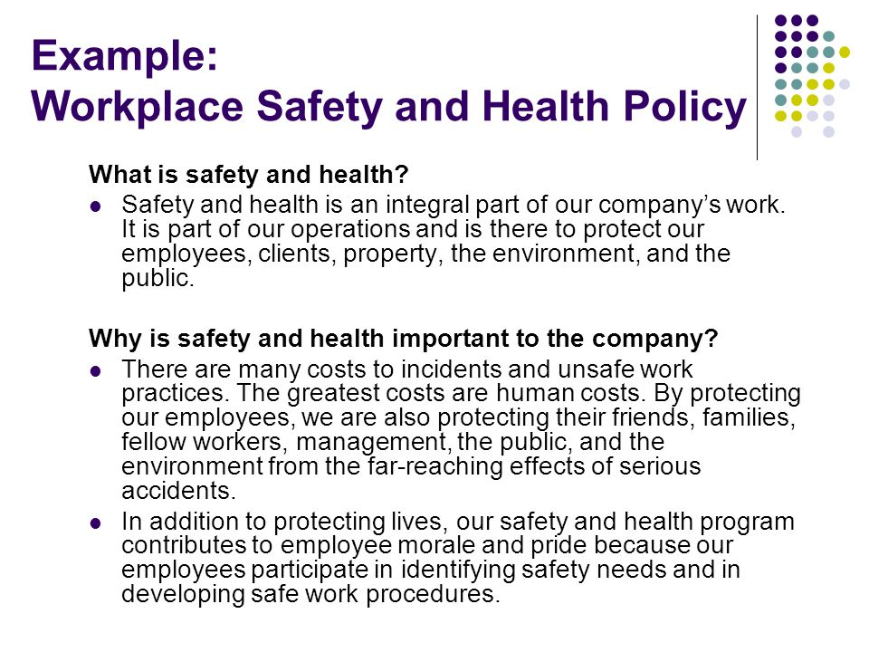 Work Health And Safety Policy Templates - Costumepartyrun - sample health and safety policy