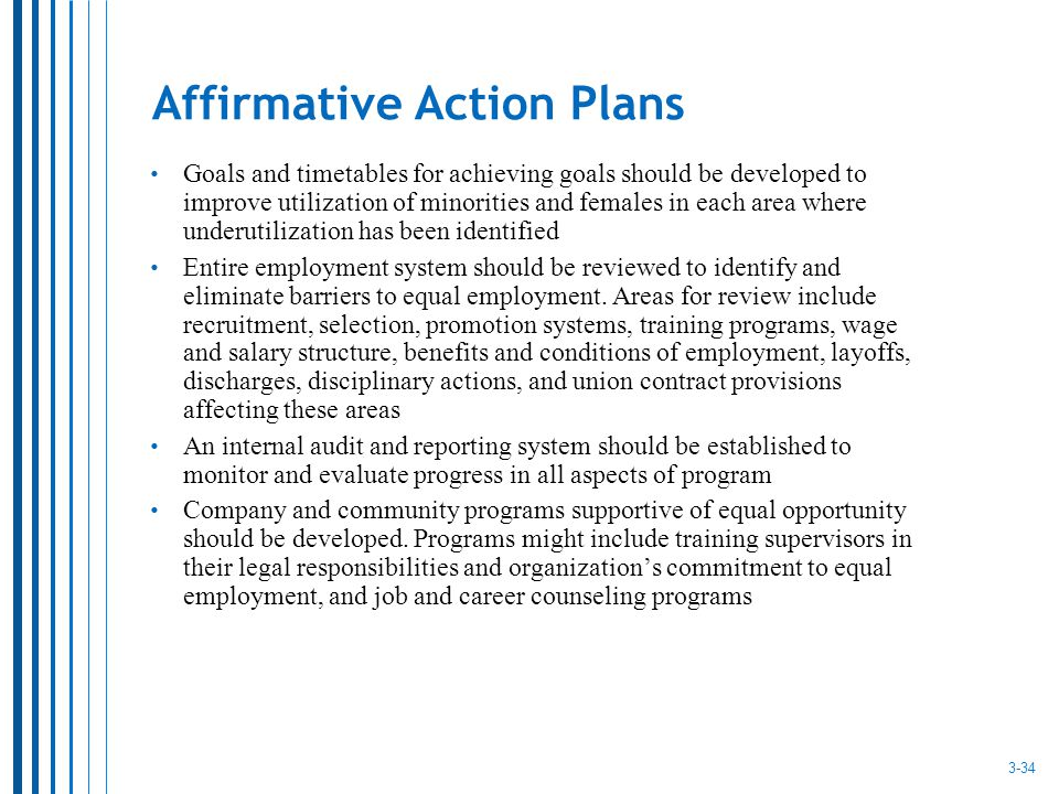 Sample Affirmative Action Plan  NodeResumeTemplate
