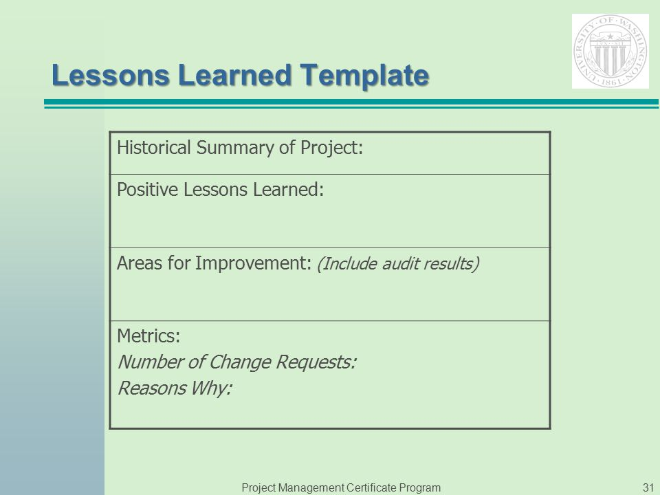 Pmp Lessons Learned Template - Costumepartyrun