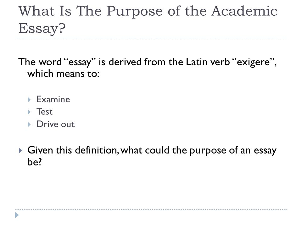 Writing an Academic Essay u2013 By Daniel Tarker - ppt download - academic essay