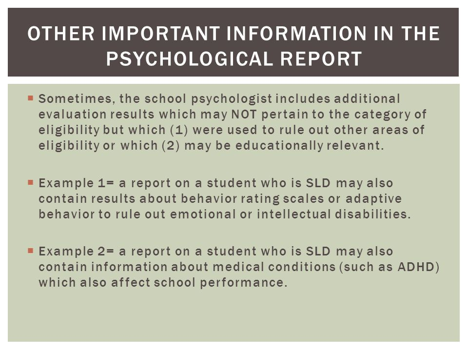 Summarizing the Psychological - ppt download - psychological report
