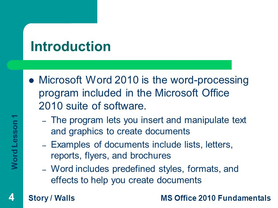 introduction to microsoft office - zrom