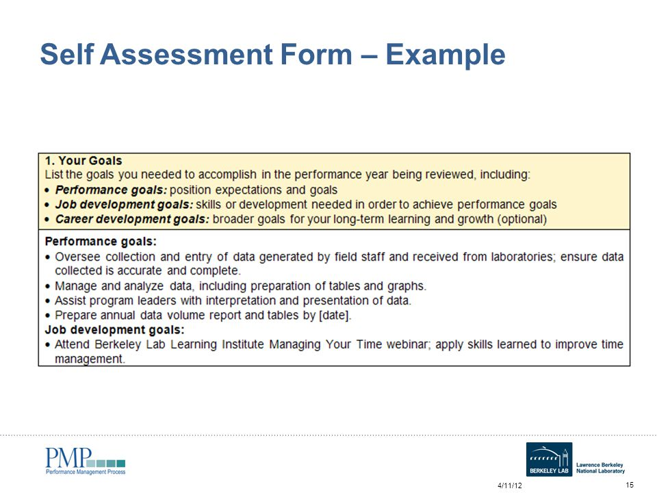 Annual Self Assessment Workshop for Employees - ppt video online - employee self evaluation form