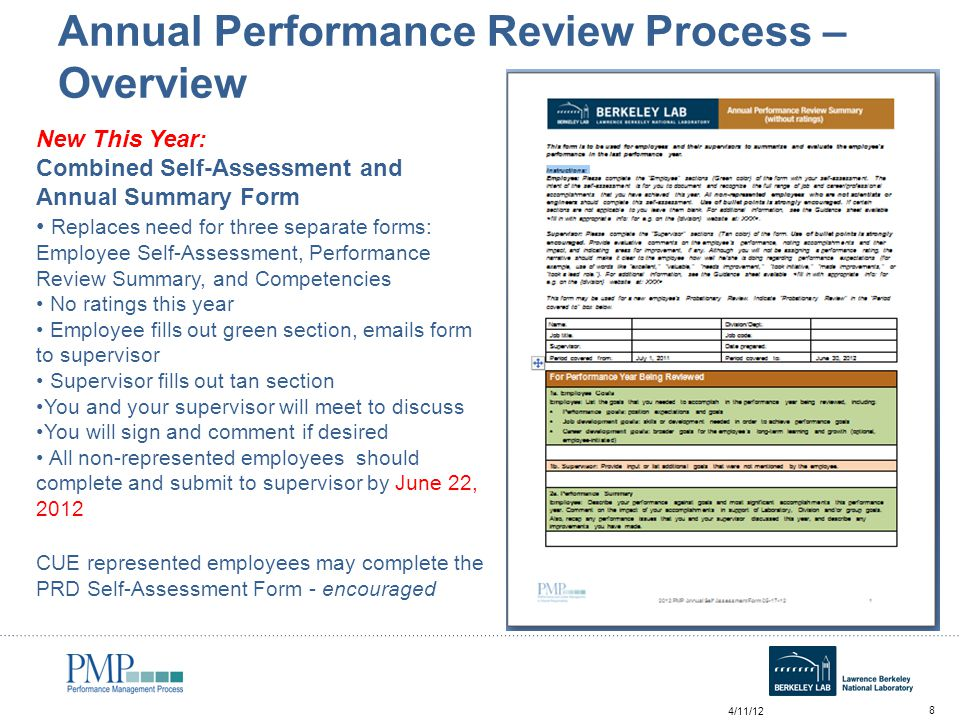 Annual Self Assessment Workshop For Employees - Ppt Video - employee review