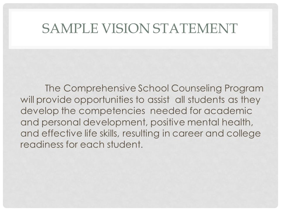 samples of personal vision statements