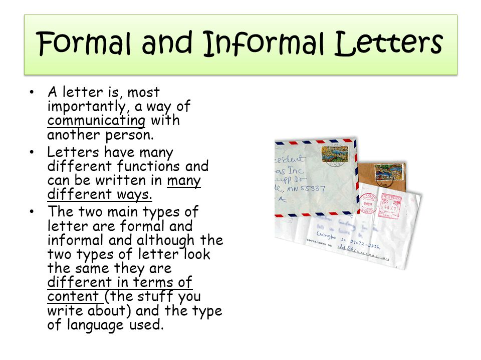 type formal letter - Minimfagency