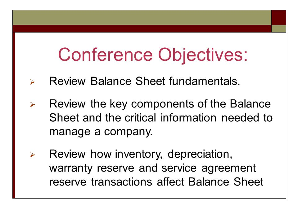 Welcome to Financial Series #2 The Balance Sheet - ppt video online - components of balance sheet