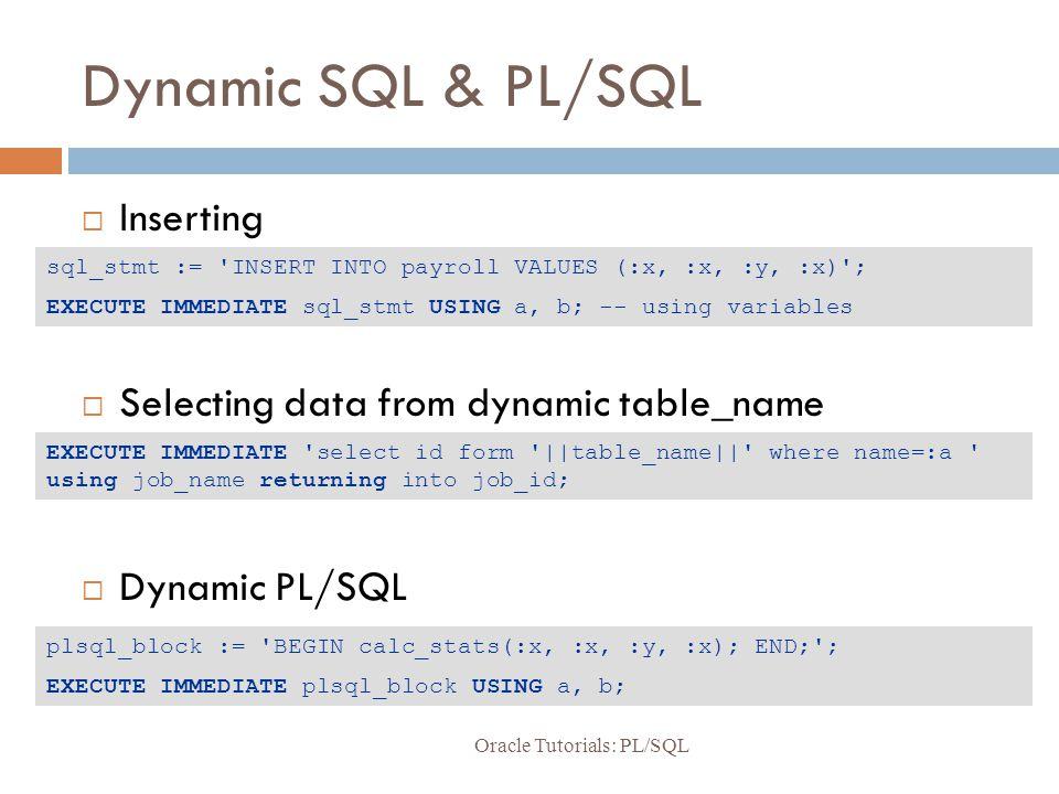 Oracle Tutorials PL/SQL - ppt video online download - p-l form