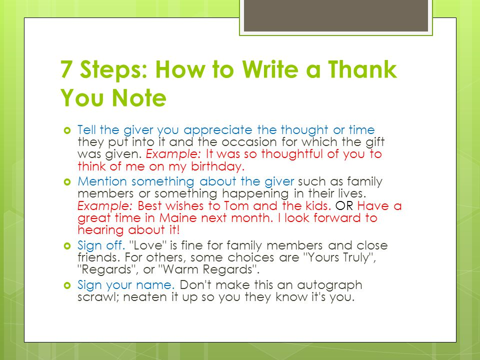 How To Write A Thank You Letter To My Boyfriend