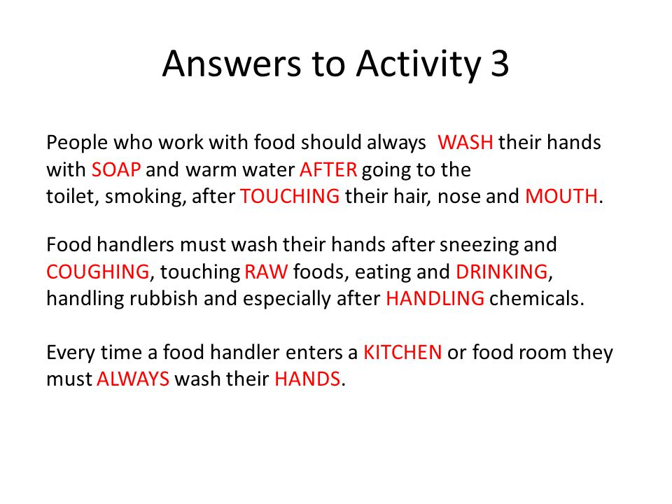 food hygiene answers - Minimfagency