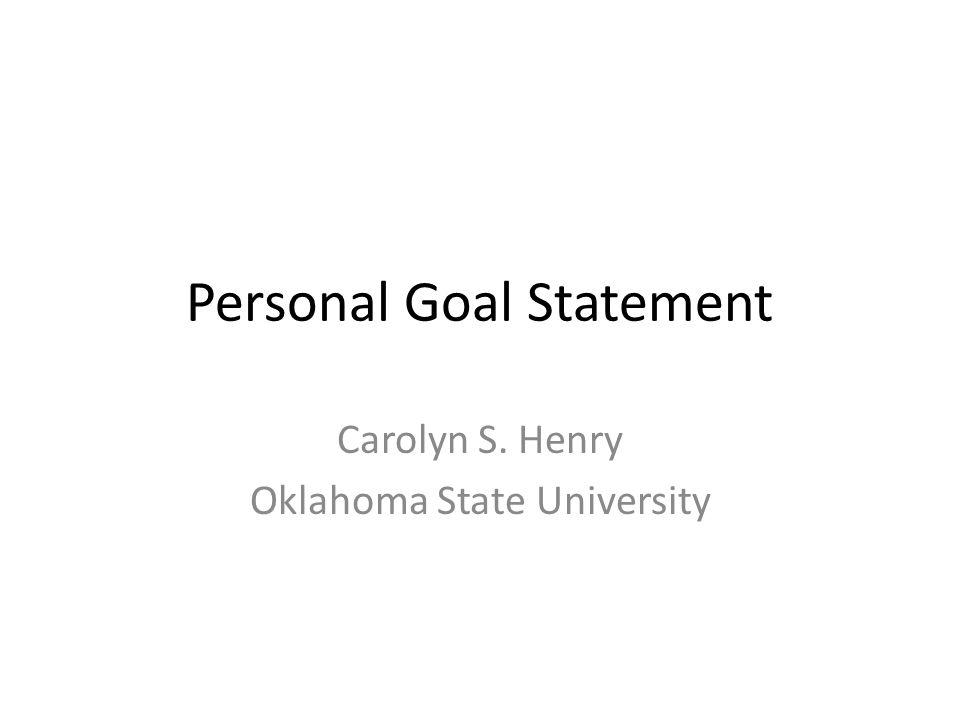 Goal Statement - Resume Template Sample