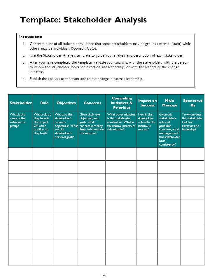 Pretty Stakeholder List Template Ideas  Example Resume Templates