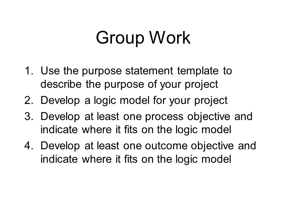 Purpose Statement Template Purpose Togaf Template Statement Of