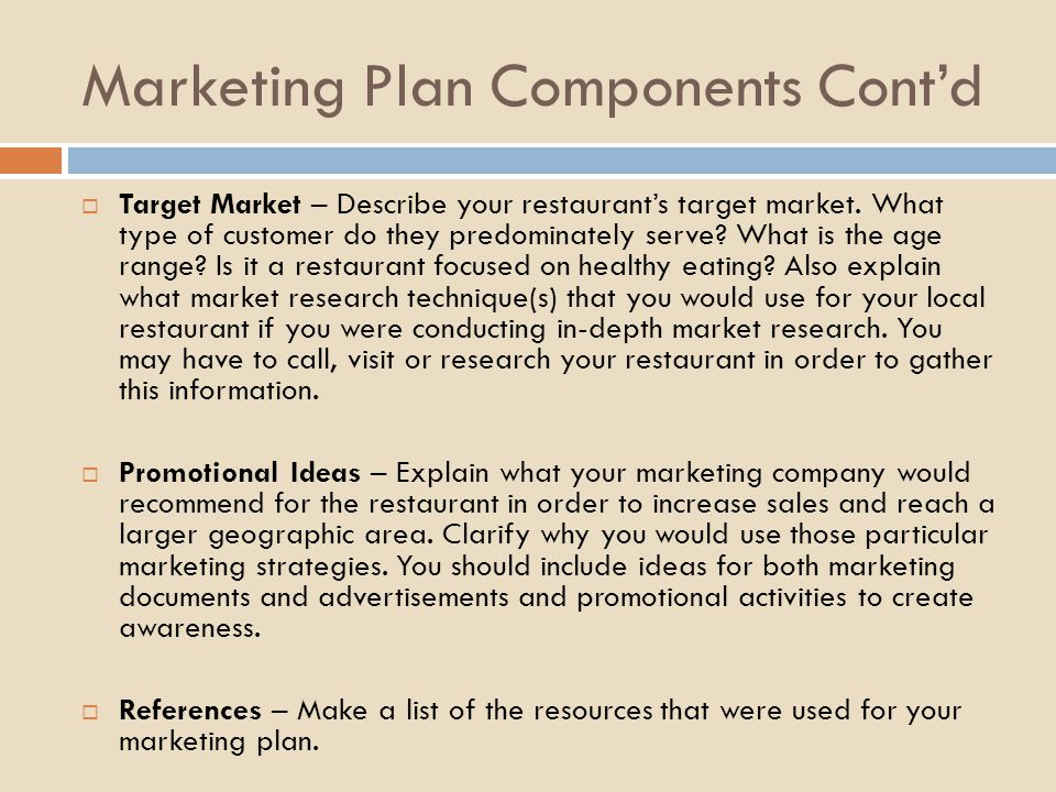 Components Marketing Plan ophion - Components Marketing Plan
