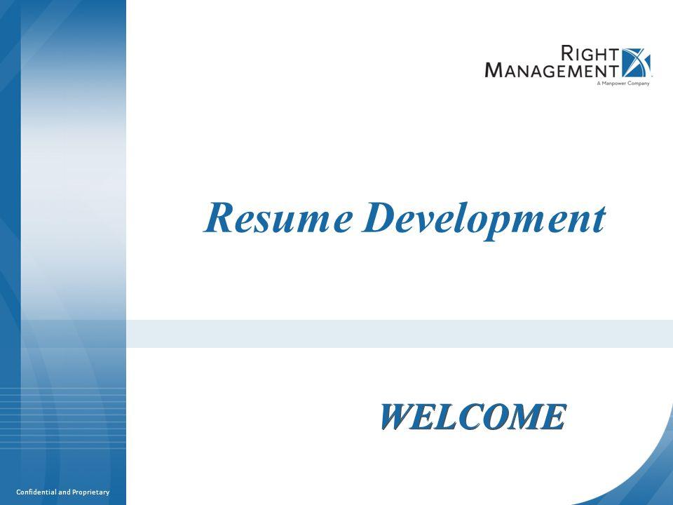 Resume Development WELCOME Materials Resume guidelines worksheets - resume guidelines