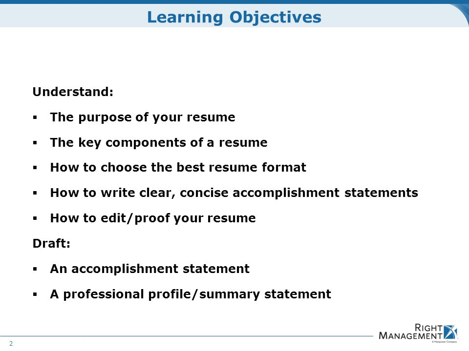 Resume Development WELCOME Materials Resume guidelines worksheets - purpose of a resume