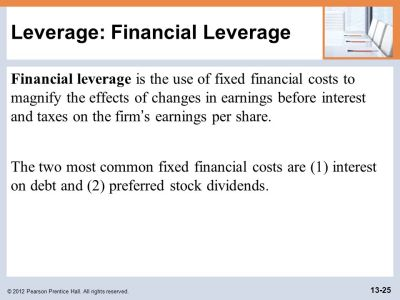 Learning Goals LG1 Discuss leverage, capital structure, breakeven analysis, the operating ...