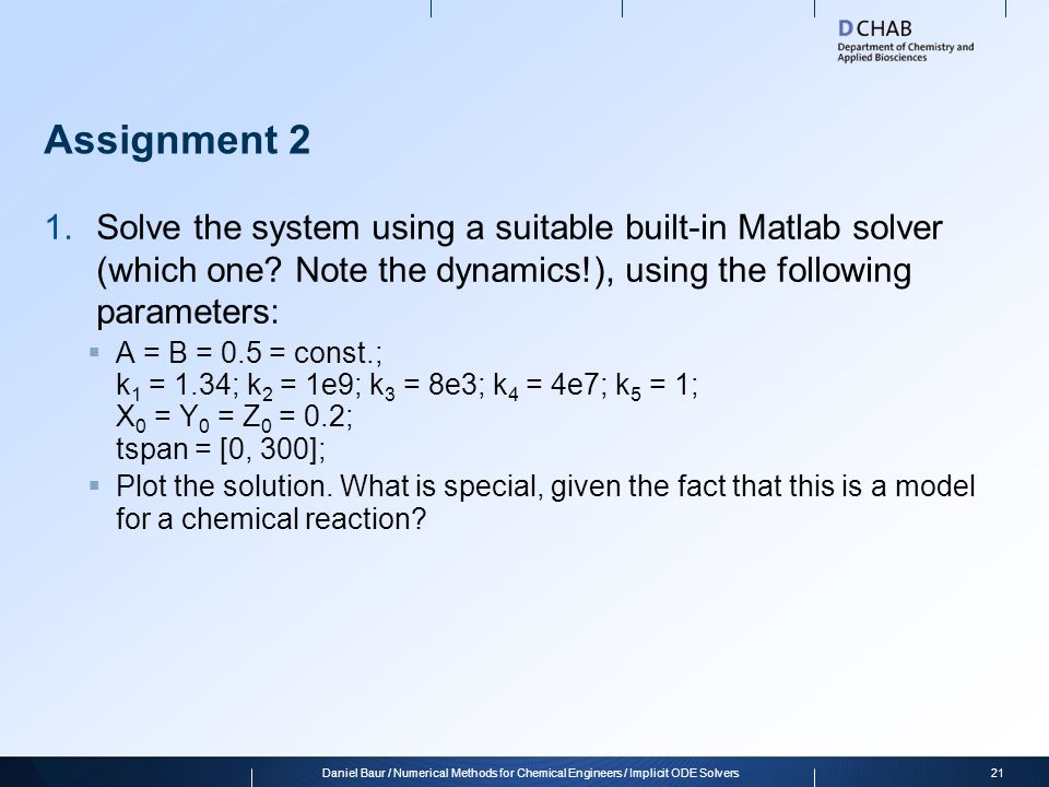 assignment solver ordinary differential equations odes ppt online