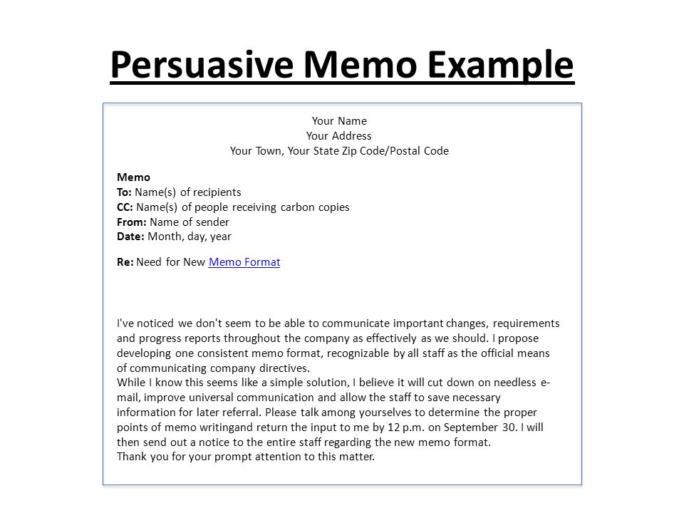 memo format with cc - Peopledavidjoel