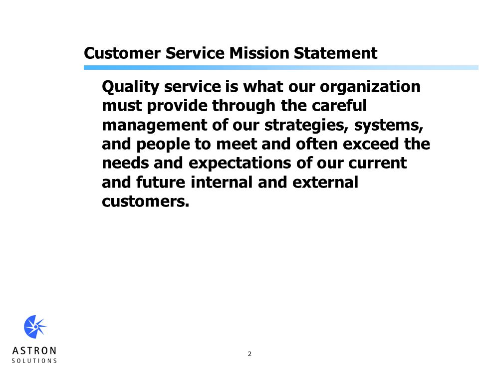 Customer service quality and customer service expectations - College