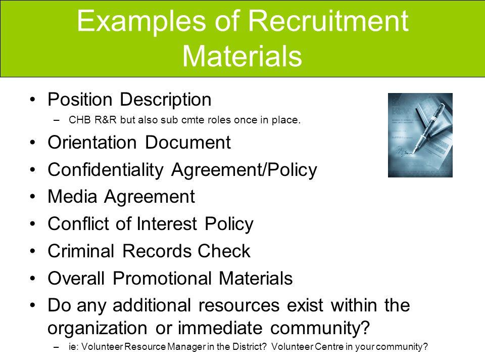 Volunteer Recruitment   Ppt Video Online Download   Volunteer  Confidentiality Agreement