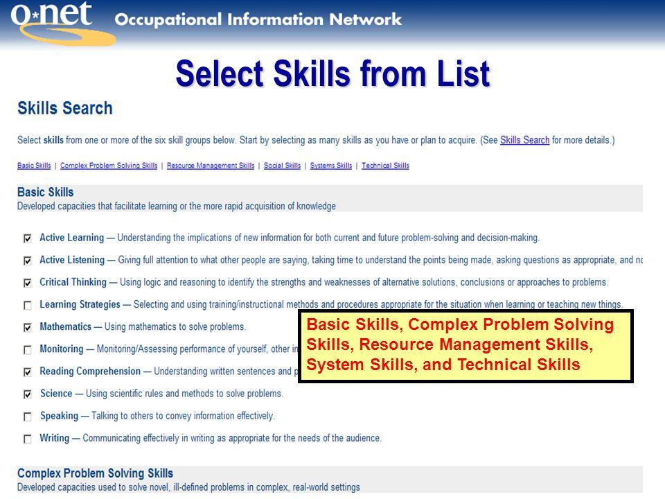 Occupational Skills List kicksneakers
