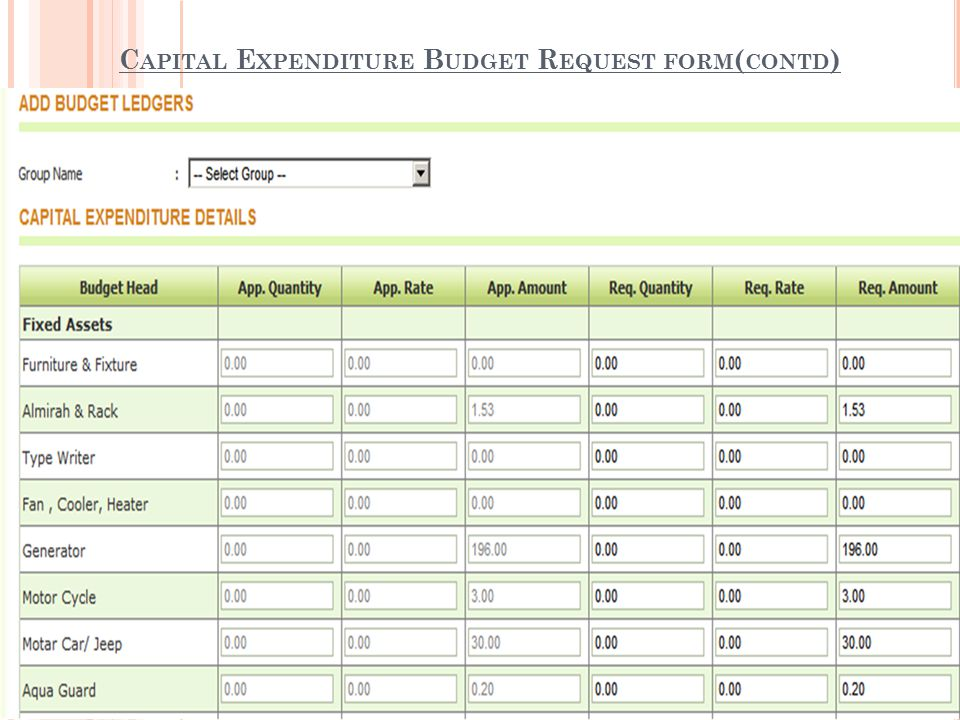 Capital budget request College paper Academic Service - budget request form