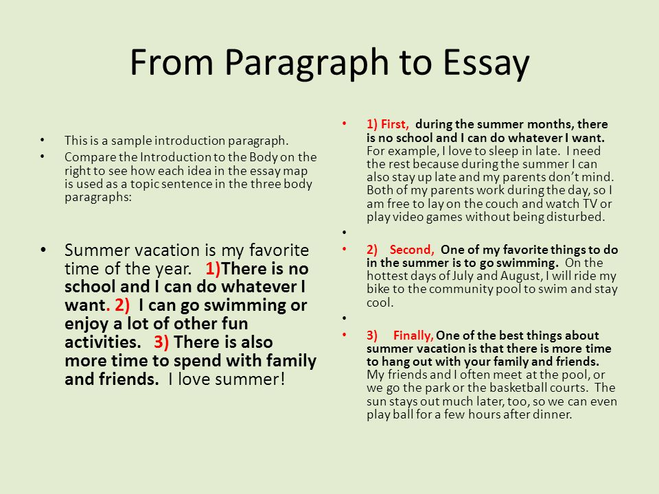 Write A Paragraph On Summer Vacation