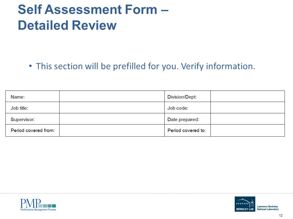 Annual Self Assessment Workshop For Employees   Ppt Video Online   Filling  Out Self Evaluation Form Images