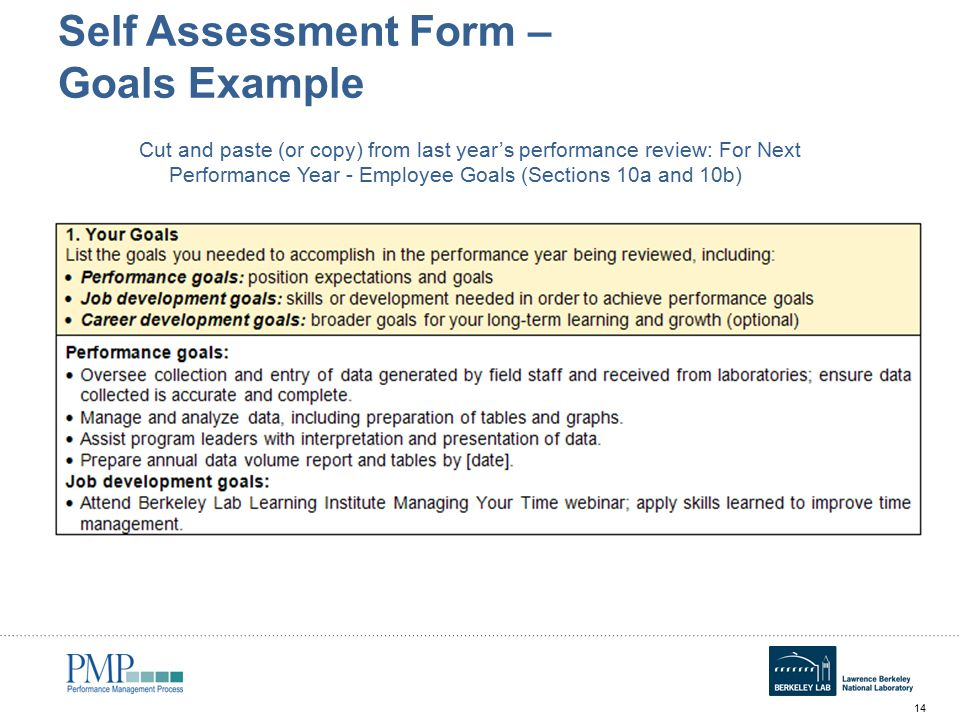 Annual Self Assessment Workshop for Employees - ppt video online - performance self evaluation form