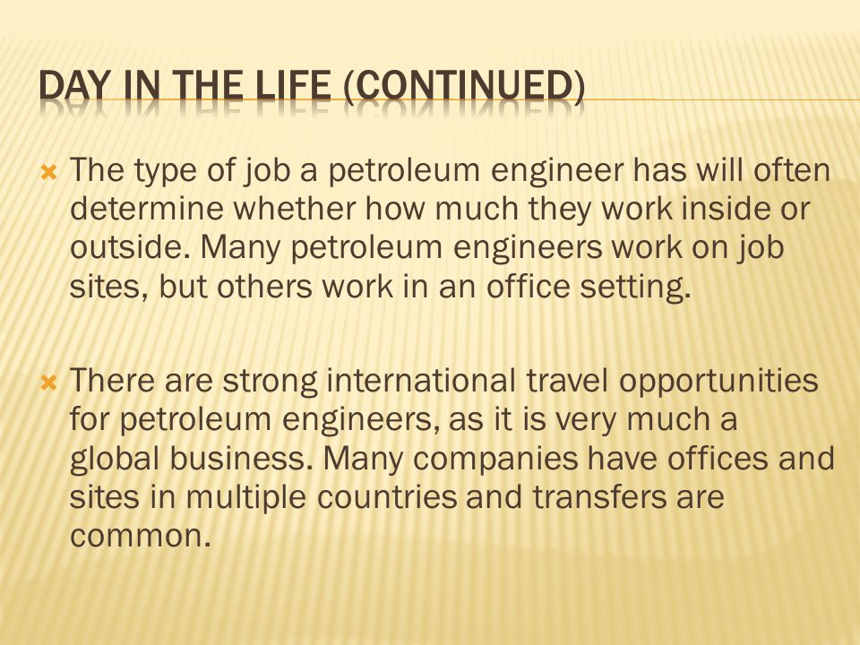 OVERVIEW OF PETROLEUM ENGINEERING - ppt video online download - petroleum engineer job description
