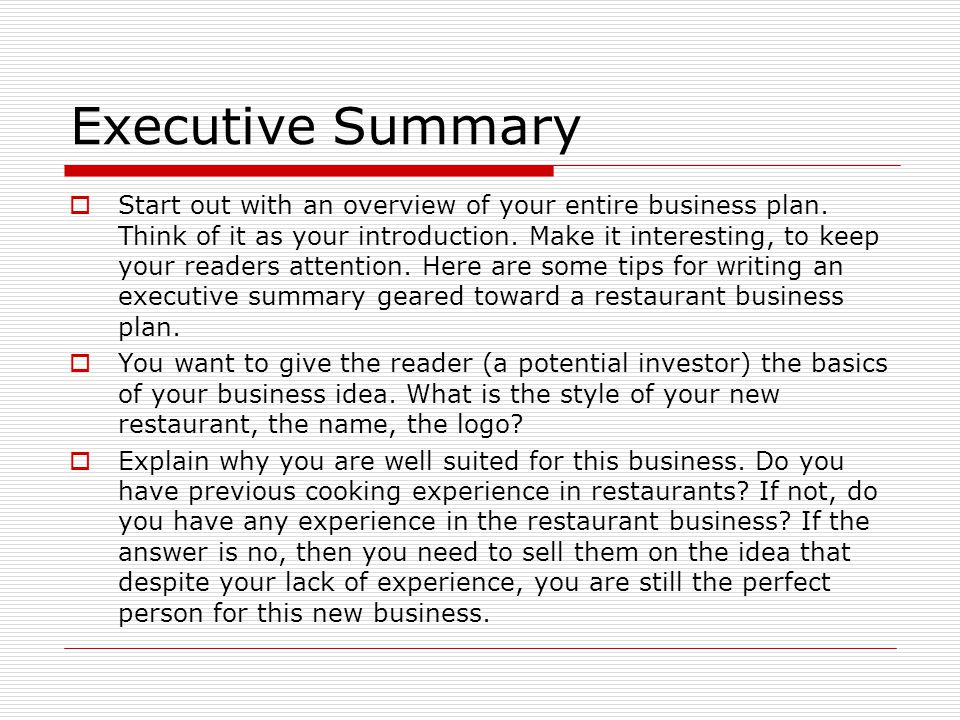 Marketing Plan Executive Summary Template 10 Free Word Excel - executive summary of a business plan