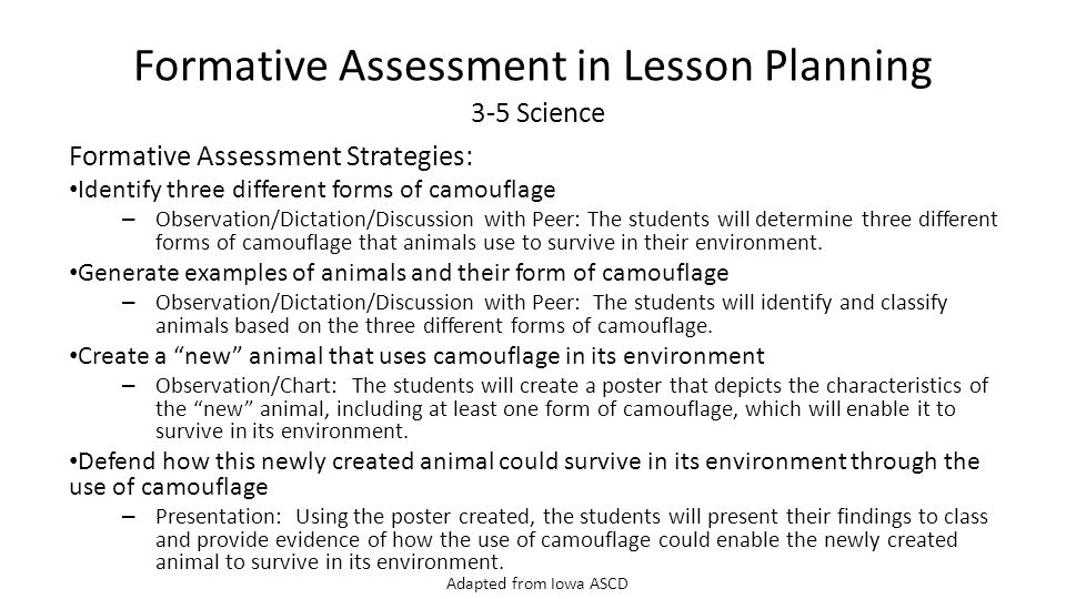 Common Core Institute #3 Formative Assessment - ppt download - formative assessment strategies