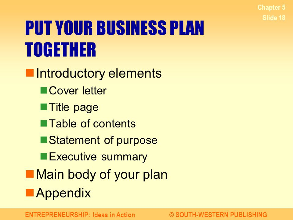 Business Plan Elements Elements Of Business Plan Powerpoint - business plan elements