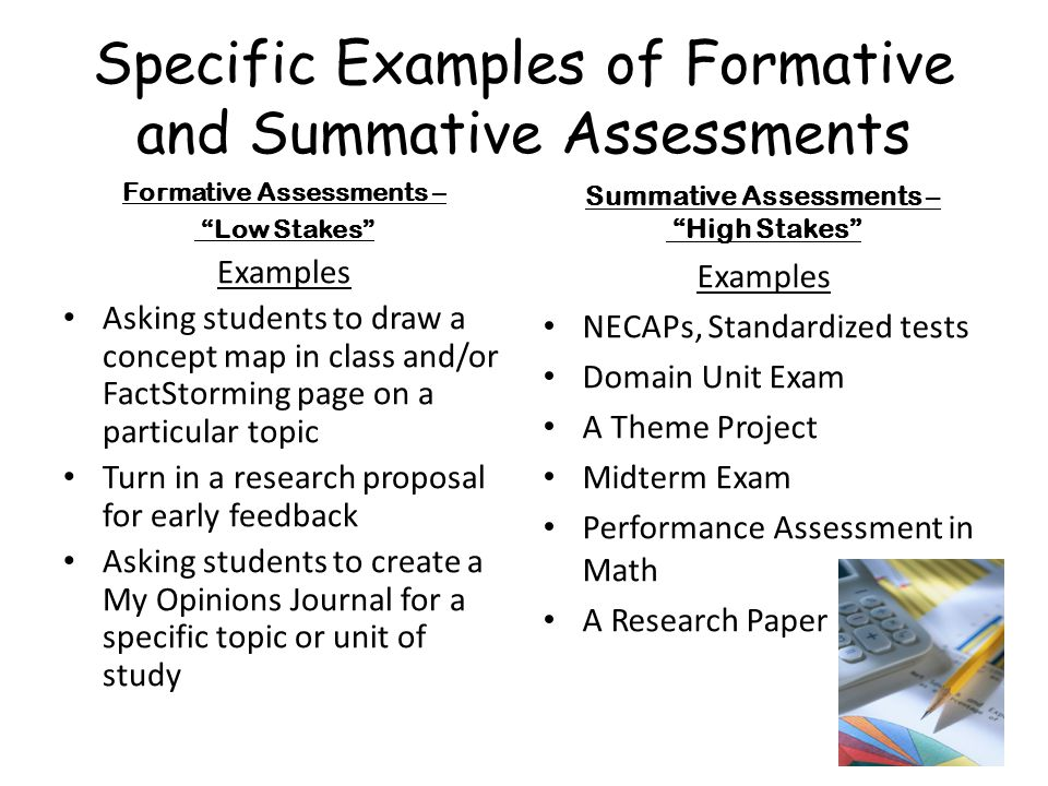 Different Examples Of Formative Assessment - Resume Template Ideas