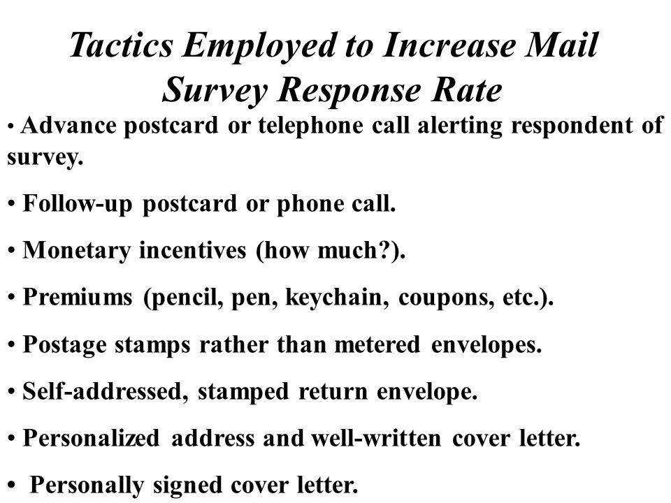 Surveys - ppt download - survey cover letter