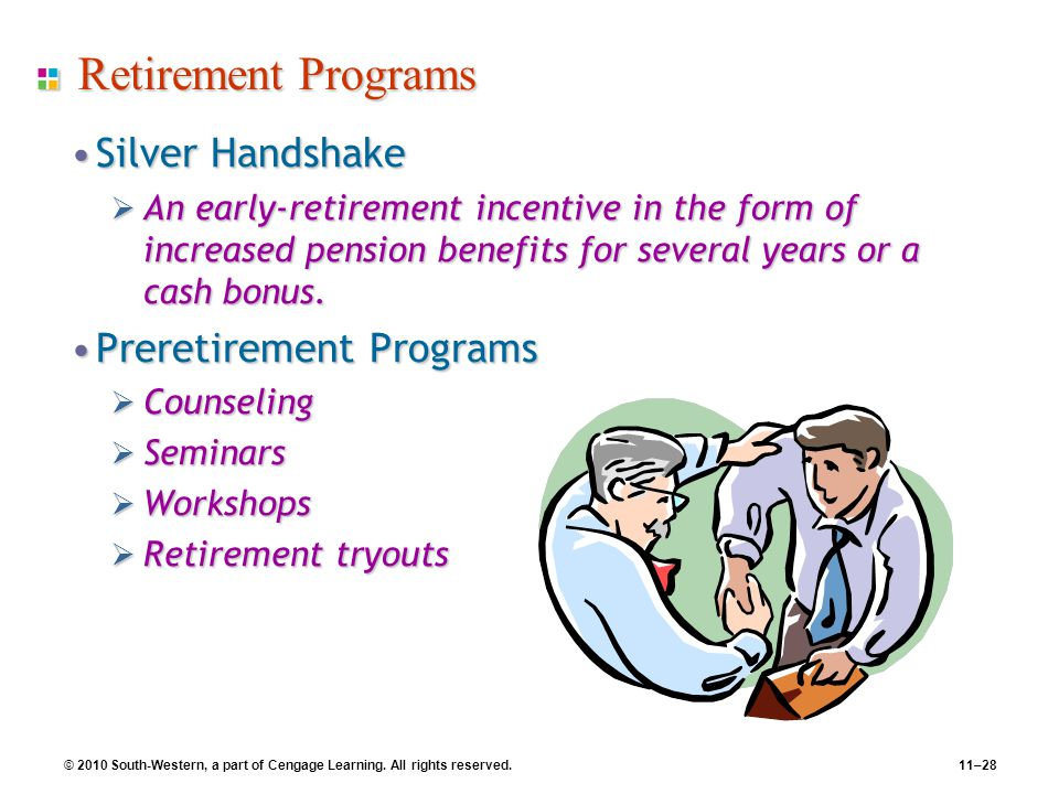 2010 South-Western, a part of Cengage Learning All rights reserved - retirement programs