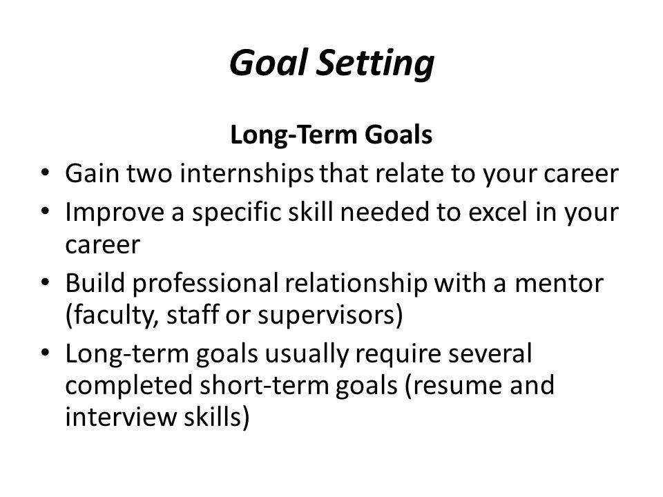 Long Term Career Goals Cover Letter Career Objectives Essay Career